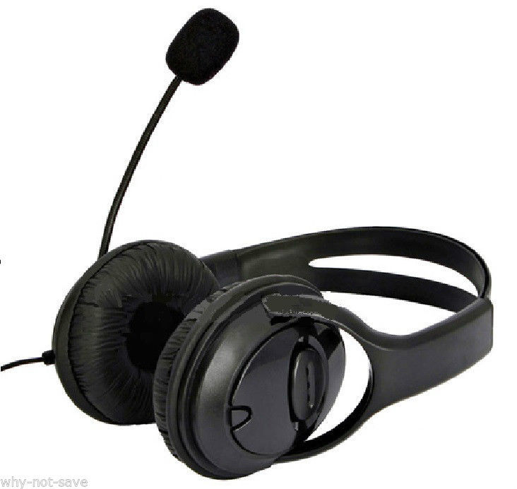 Big Gaming Headset headphone with Microphone MIC for Xbox 360 Xbox360 LIVE S E for sale  USA