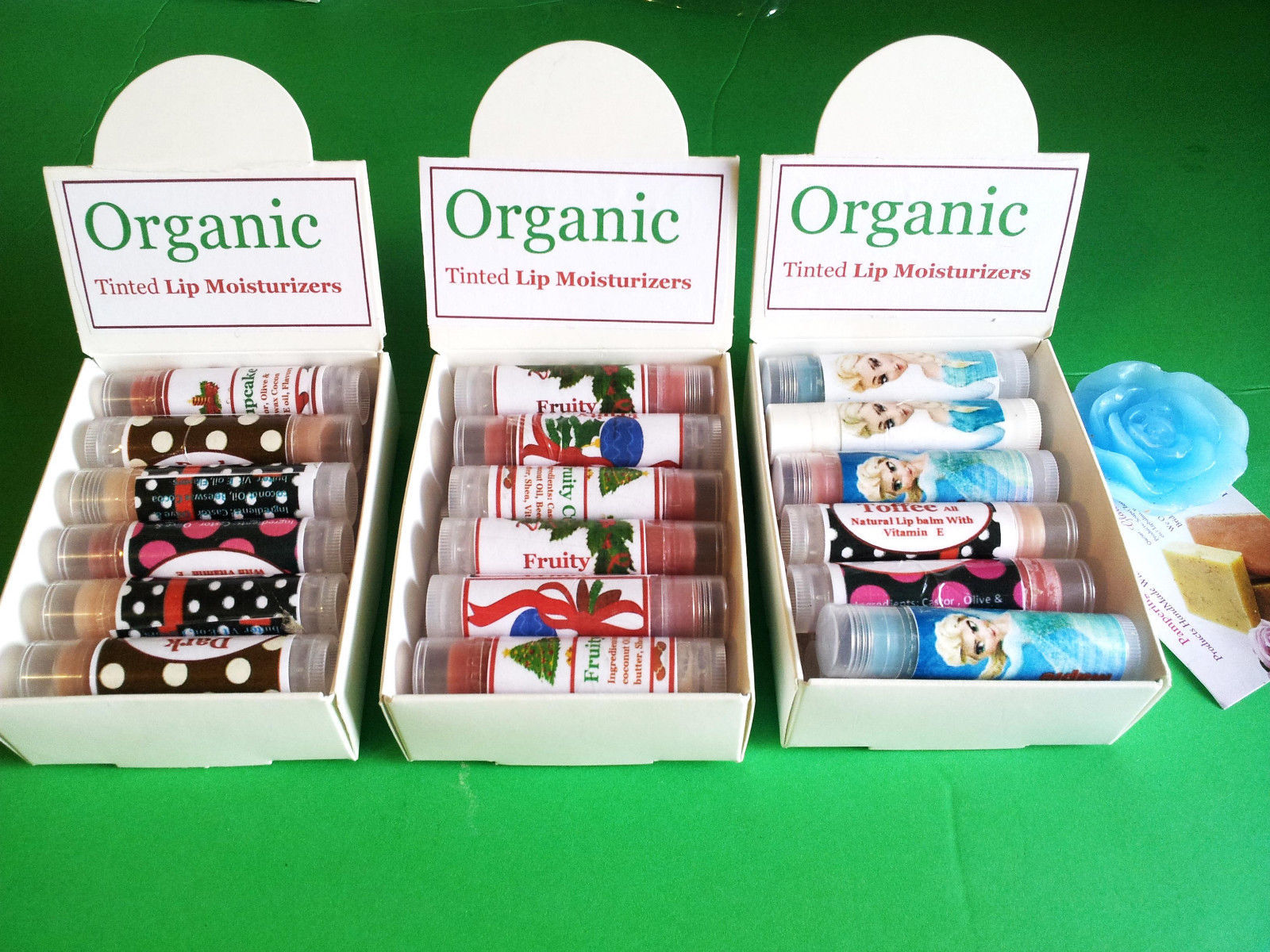 Homemade Handmade Organic Tinted Lip Balm Moisturizer -2Pcs, 5pcs, 10pcs