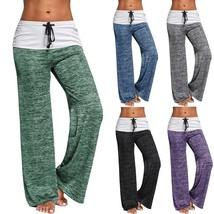 2017 New Women Casual Pants Ladies Fashion Foldover Heather Cotton Pants Slim Fi