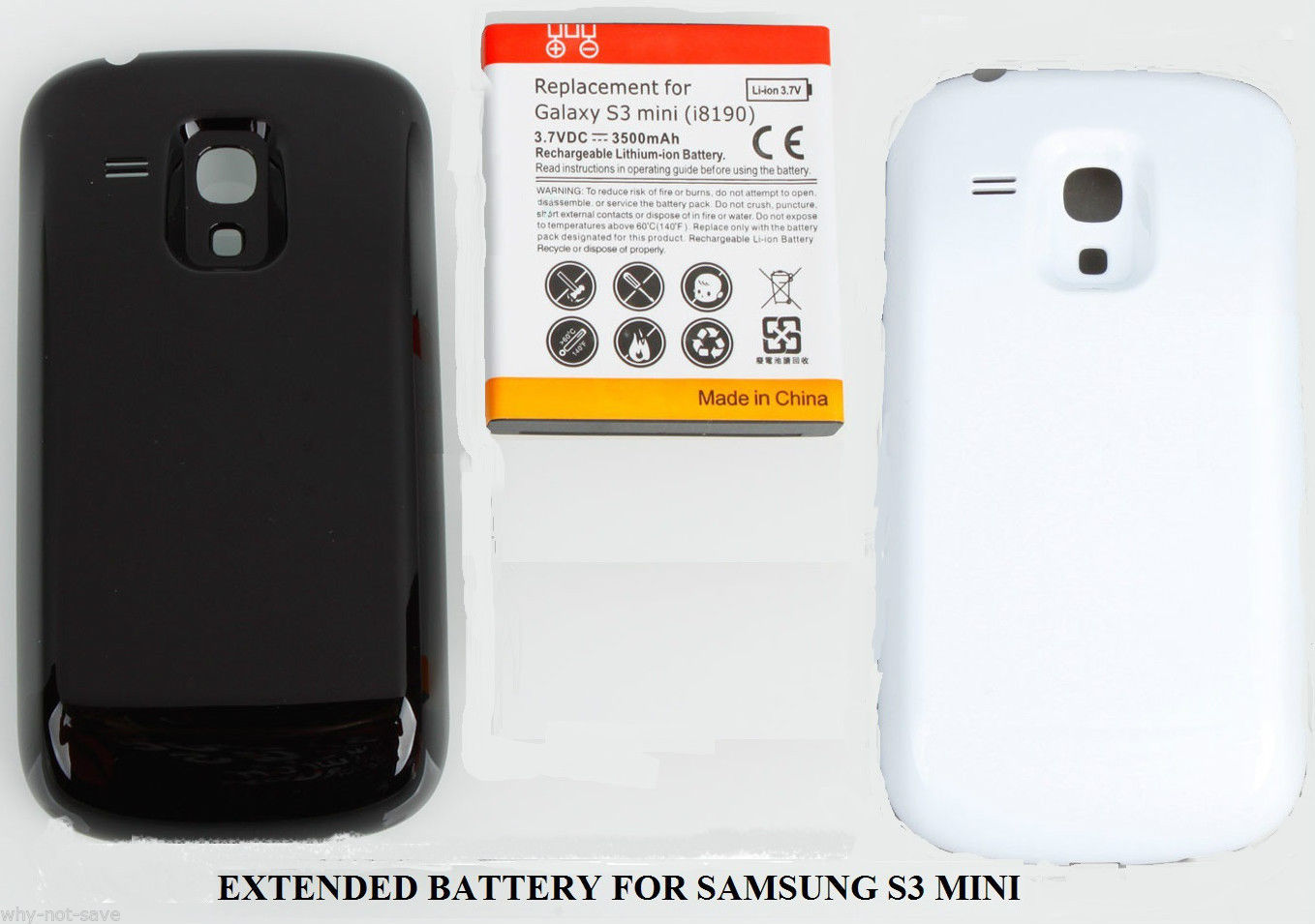 Primary image for Extended High Capacity Replacement Battery for samsung galaxy s3 MINI GT-I8190