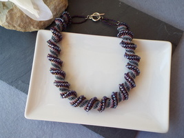 Shades of Purple Celini Spiral Necklace - $40.00
