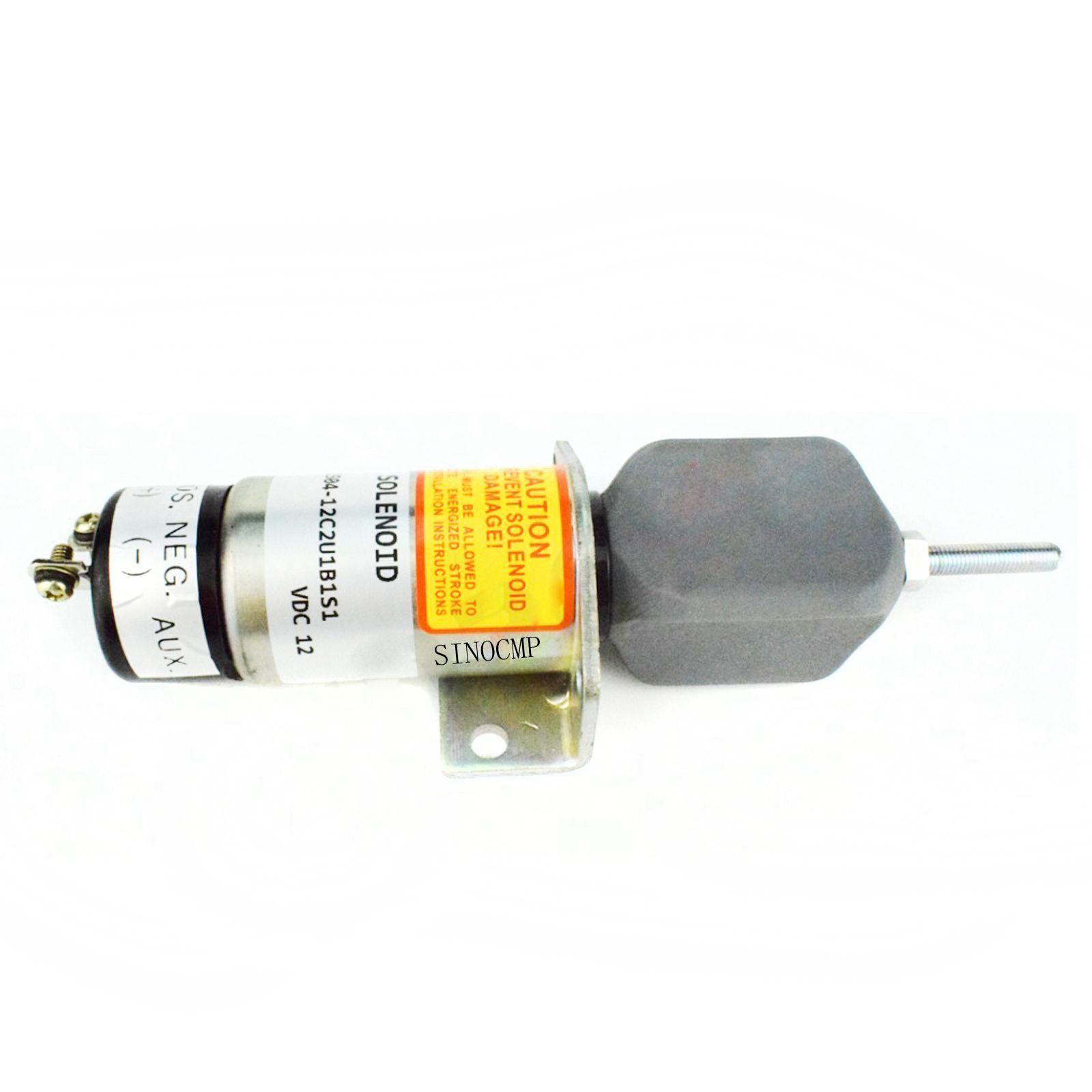 SINOCMP 1504-12C2U1B1S1 Shutoff Solenoid For Synchro Start Kubota DF-750 12V