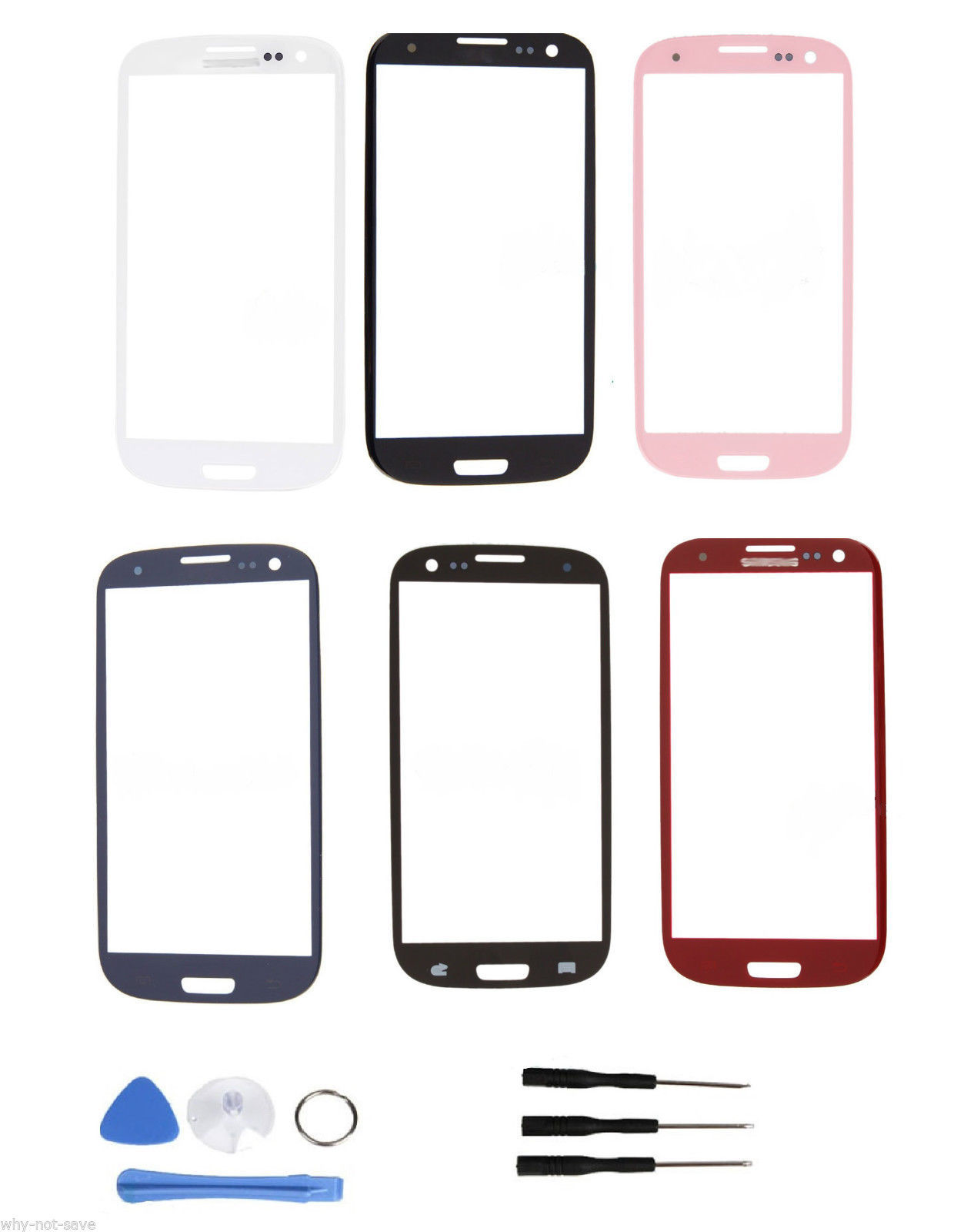 Front screen glass replacement all colors for Samsung Galaxy s3 SGH-I747 i9300, used for sale  USA