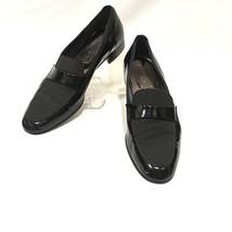 Salvatore Ferragamo 12B Shoes Patent Leather Fabric Black Prom Wedding F... - $158.02