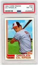 1982 Topps Traded Cal Ripken Jr. Rookie #98T PSA 8 P675 - $203.10