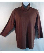 Modern Soul Women's 1X Plus Size Brown Turtleneck  - $7.00