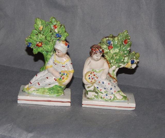 English Pottery Staffordshire Pearlware Figures God Goddess Early 19th Century