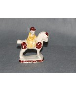 Antique English Staffordshire Pottery Lady Riding Horse Late 18th Century - $475.00