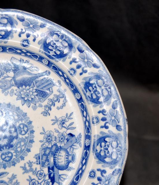 Spode Pearlware Pottery Transfer Trophies Pattern Plate