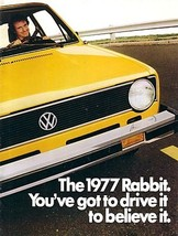 1977 Volkswagen RABBIT sales brochure catalog 77 US VW - $9.00
