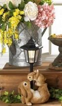 10018806 SHIPS FREE Summerfield Terrace Mom and Baby Rabbit Solar Lamp - $30.99