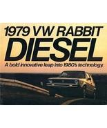 1979 Volkswagen RABBIT DIESEL brochure catalog 79 US VW - $8.00