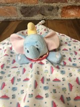 Disney Baby DUMBO Lovey Plush Security Blanket Silky Lining Circus Fabric E1 - $18.80