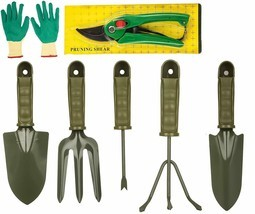 9 Pieces Garden Tool Set Gardening Tools Gift Kit Non-Slip Handle with case - £20.49 GBP
