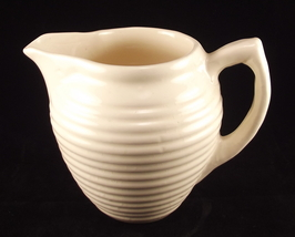Old cream pottery ringed pitcher 1 thumb200