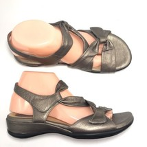 Clarks Artisan Lucena Sandals Bronze 8 W Leather 87203 Taupe Womens Shoes - $30.98