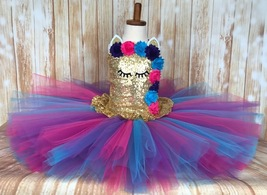 Unicorn Tutu, Unicorn Dress Purple Pink and Turquoise, Unicorn Costume - $60.00+