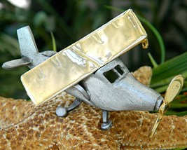 Vintage Airplane Brooch Pin Movable Spirit St Louis Ultra Craft - $29.95