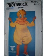 "VINTAGE 74-78 LOONEY TUNES TWEETY ""BUTTERICK# 6350"" - $7.50"