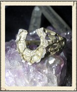 Lucky Magick Horseshoe Money Ring Pulls Wealth to You Like a Magnet! haunted  - $79.99