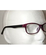 Purple Leopard Print Fashion Reading Glasses Black Temple Arm Unisex +3.25  - $9.79