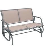Outdoor Swing Glider Chair Patio Bench 2 Person Garden Loveseat Rocking ... - $199.59