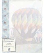 Desktop Designs Laser Stationery 50 Sheets Hot Air Balloons New Sealed - $5.00