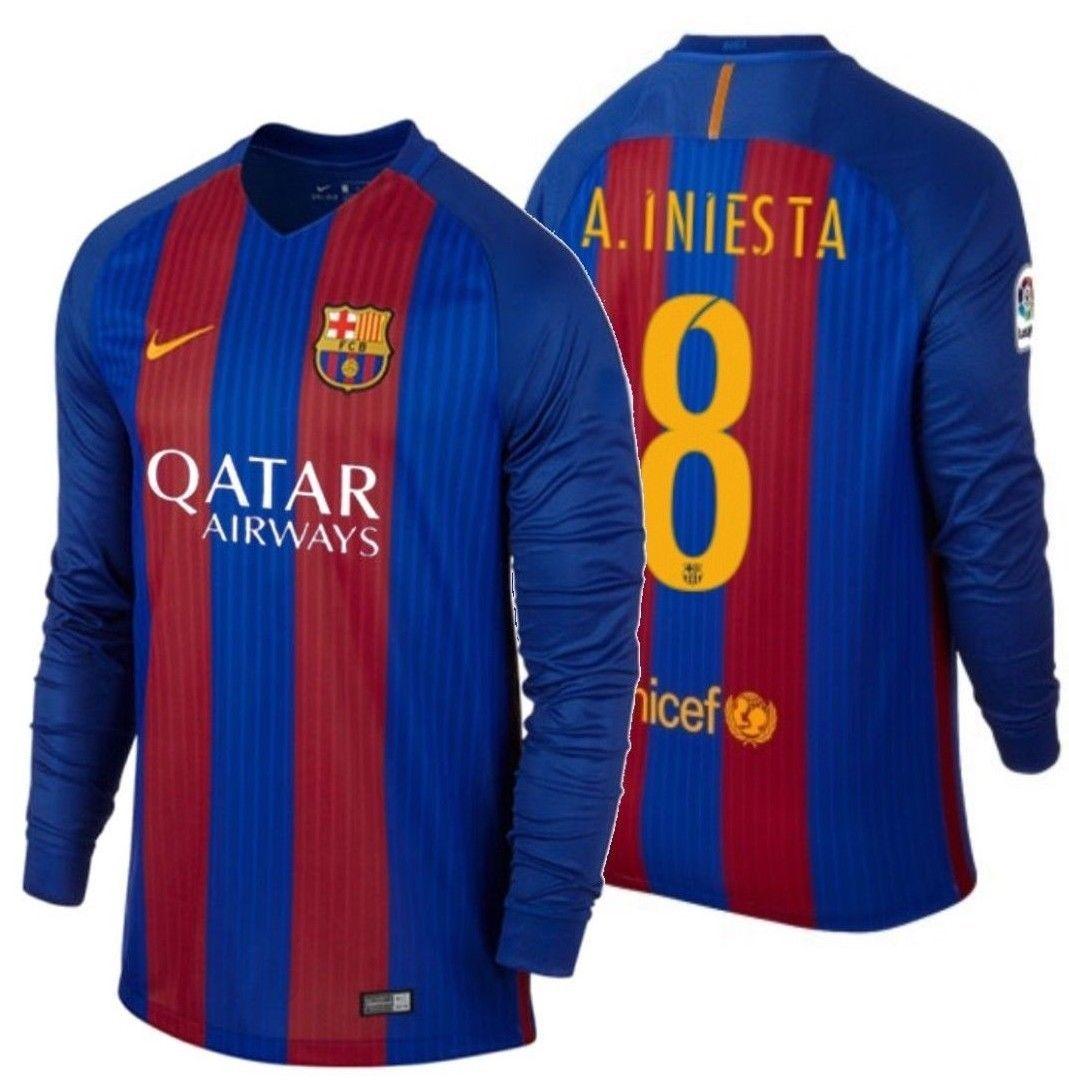 f1ca346ca Nike Andres Iniesta Fc Barcelona Long Sleeve and 13 similar items. 57