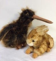 Ty Beanie Buddies Beak Long Haired Kiwi Bird & Beanie Minksy Bunny Rabbi... - $10.50