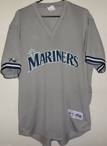 Vintage SEATTLE MARINERS Gray Majestic MLB Baseball Jersey Sz X-Large XL - $49.49