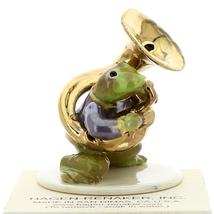 Hagen-Renaker Miniature Ceramic Frog Figurine Toadally Brass Band Tuba Player