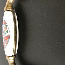Vintage Ceramic Brass Drawer Pulls Handles Asian Japanese Art Set of 2 image 10