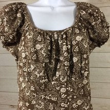 Dressbarn Size Small Brown Short Sleeved Top - $8.10