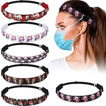 6 Pieces Button Headbands for Women, Skull Head Bands with Buttons Adjus... - $22.87