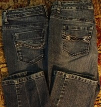 Lot of 2 Style & Co. Denim Tummy Control Straight Leg Jeans 6 - $21.69