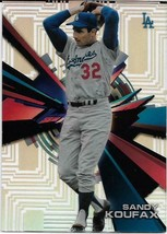 2015 TOPPS HIGH TEK PIPES SANDY KOUFAX LOS ANGELES DODGERS FREE SHIPPING - $1.99