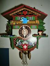 Little Swiss Chateau wind-up Novelty clock,Cuckoo clock shop item - $49.00