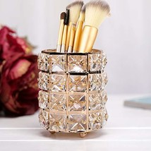 Manvi Gold Crystal Candle Holders, Tealight Shining Candlestick Holders-... - $17.31