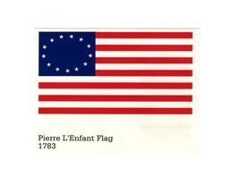 POSTCARD-FIRST Day ISSUE-PIERRE L'enfant Flag 1783-STARS & Stripes Series BK5 - $1.21
