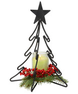 3D CHRISTMAS TREE Large Wrought Iron Candle Stand Holiday Decor USA HAND... - $39.19