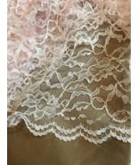 """Lace Fabric 1 Piece 75"""" X 44"""" Blush Pink - $23.99"""