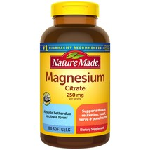 Nature Made Magnesium Citrate 250mg Softgels (180 ct.) - $32.31