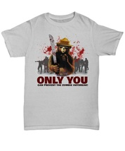 Smokey The Bear Only You Can Prevent The Zombie Outbreak (Large, Ash Grey) - $17.10