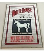 White Horse Distilleries Blended Scotch Whisky Mirror Framed Sign RARE 1... - $58.85