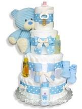 Corduroy Blue Teddy Diaper Cake - $135.00