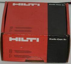 Hilti 433047 KwikCon II PLUS 1/4  x 1 1/4 in. Phillips Flat Head Screws 100pcs image 4