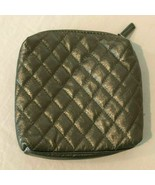 Redken 5th Avenue Quilted Cosmetic Bag Pewter Color Travel Storage Bag Z... - $11.99
