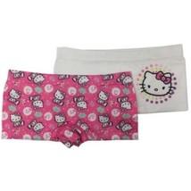 Hello Kitty Girls Seamless BoyShorts 2 Pack Size Large 10-12  - $10.88
