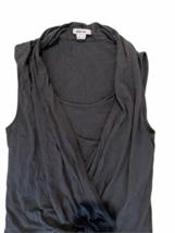 Helmut Lang Women Gray Sleeveless Summer Romper Shorts Size Small image 2