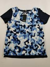 new JONES NEW YORK women shirt top JMMNPW3233 ultramarine combo S MSRP $... - $17.99